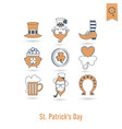 saint patricks day isolated icon set vector image vector image