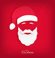 santa claus carved from paper origami style vector image vector image