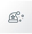 santa hat icon line symbol premium quality vector image vector image