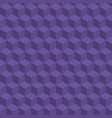 seamless geometric cubes pattern ultra violet vector image
