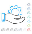 service stroke icon vector image vector image