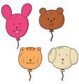 set of animal balloon vector image vector image