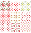 Set of baby seamless patterns vector image vector image