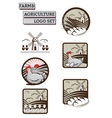 Set of Labels Logos for Farm and vector image vector image