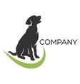 sitting dog logo vector image vector image