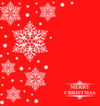 snowbeads red vector image vector image