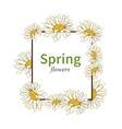 Spring flower frame background vector image vector image