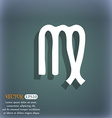 Virgo icon On the blue-green abstract background vector image vector image