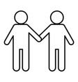 volunteer couple icon outline style vector image vector image