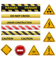 warning signs stock vector image vector image