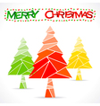 colorful merry christmas tree greeting design vector image