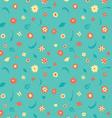 summer flowers pattern vector image