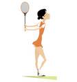young woman playing tennis isolated vector image