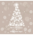 Abstract Christmas tree made of sparkles and vector image