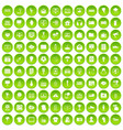 100 trophy and awards icons set green circle vector image vector image