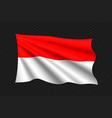 3d waving flag vector image vector image
