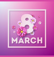 8 march happy womens day floral greeting card