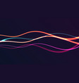 abstract background with horizontal glowing neon vector image vector image