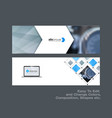 abstract set of modern horizontal website vector image vector image