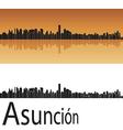 asuncion skyline in orange background