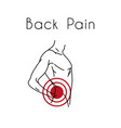 back pain with man vector image