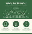 back to school concept with thin line icons vector image
