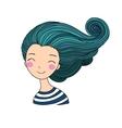 Beautiful young girl sailor Sea theme vector image