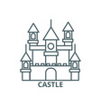 big castlegermany line icon big castle vector image vector image