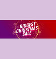 biggest christmas sale banner template vector image vector image