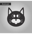 black and white style icon pet cat vector image vector image