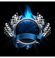 Blue emblem races vector | Price: 1 Credit (USD $1)
