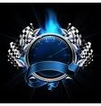 Blue Emblem Races vector image vector image