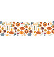 border thanksgiving seamless autumn food vector image vector image
