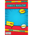 bright comics magazine template vector image