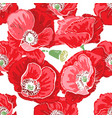 bright seamless floral pattern beautiful and big vector image vector image