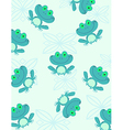 Cartoon frog pattern vector image vector image