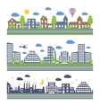 City Skylines icons set vector image vector image