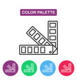 color palette guide logotype design templates vector image vector image