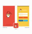 company santa clause splash screen and login page vector image vector image