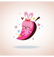 cute bunny in love vector image vector image