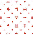 destination icons pattern seamless white vector image vector image