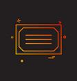 diploma award winner icon design vector image