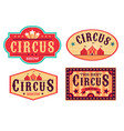 emblems circus fun carnival festival retro paper vector image vector image