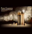 essence contained ads gold and bronze vector image vector image