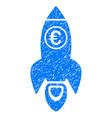 euro rocket launch icon grunge watermark vector image vector image