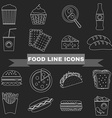 Fast Food and Snacks Big Icons Set vector image vector image