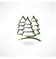 fir-tree forest grunge icon vector image