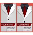 Flat business card template with white jacket vector image vector image