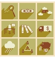 Flat with shadow concept Stylish economic icons vector image vector image