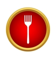 Fork icon in simple style vector image vector image